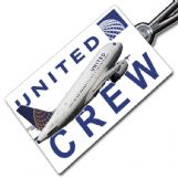 United Airlines A319 Crew Tag